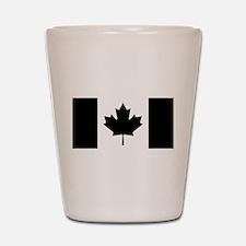 Canada: Black Military Flag II Shot Glass