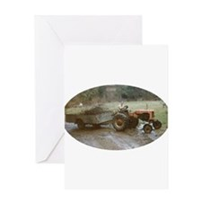 Riding a Tractor Greeting Cards