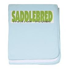 Cute American saddlebred baby blanket