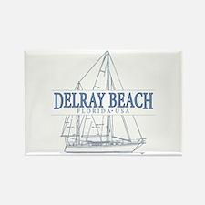Delray Beach - Rectangle Magnet