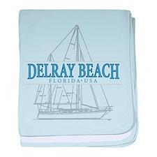 Delray Beach - baby blanket