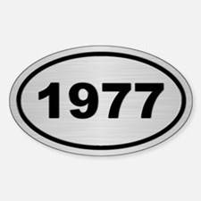 1977 Steel Grey Oval Vinyl Decal