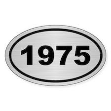1975 Steel Grey Oval Vinyl Stickers