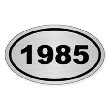 1985 Steel Grey Oval Vinyl Decal