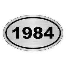 1984 Steel Grey Oval Vinyl Decal