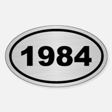1984 Steel Grey Oval Vinyl Decal