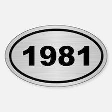 1981 Steel Grey Oval Vinyl Decal
