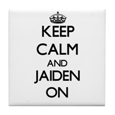 Keep Calm and Jaiden ON Tile Coaster