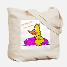 Swimming Yellow Ducky with Float Tote Bag