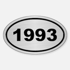 1993 Steel Grey Oval Vinyl Decal