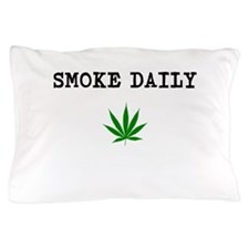 Smoke Daily Green Leaf Logo Pillow Case