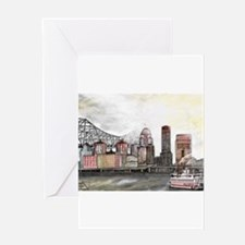 Louisville Skyline Greeting Cards