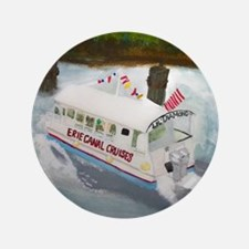 """Erie Canal Cruises 3.5"""" Button"""