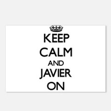 Keep Calm and Javier ON Postcards (Package of 8)