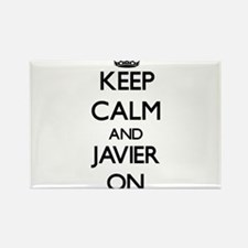 Keep Calm and Javier ON Magnets