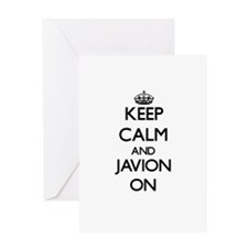 Keep Calm and Javion ON Greeting Cards