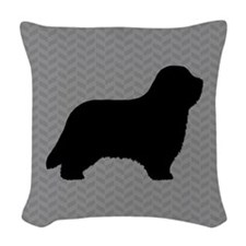 Bearded Collie Woven Throw Pillow
