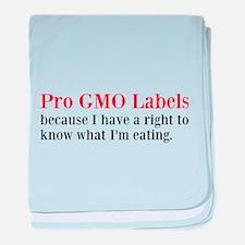 Pro GMO Labels baby blanket