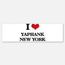 I love Yaphank New York Bumper Bumper Bumper Sticker