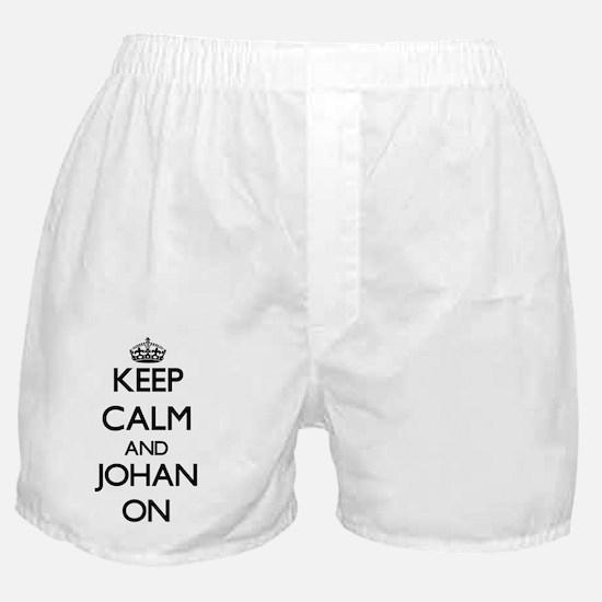 Keep Calm and Johan ON Boxer Shorts