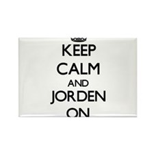 Keep Calm and Jorden ON Magnets