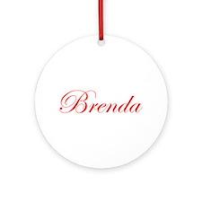 Brenda-Edw red 170 Ornament (Round)