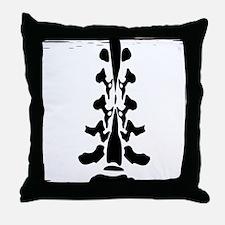 Lumbar Spine Design Throw Pillow