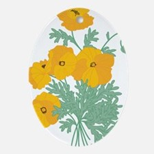 poppies.png Ornament (Oval)