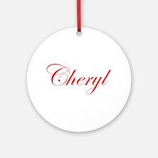 Cheryl-Edw red 170 Ornament (Round)