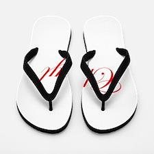 Cheryl-Edw red 170 Flip Flops