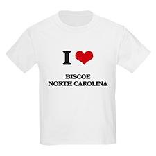 I love Biscoe North Carolina T-Shirt