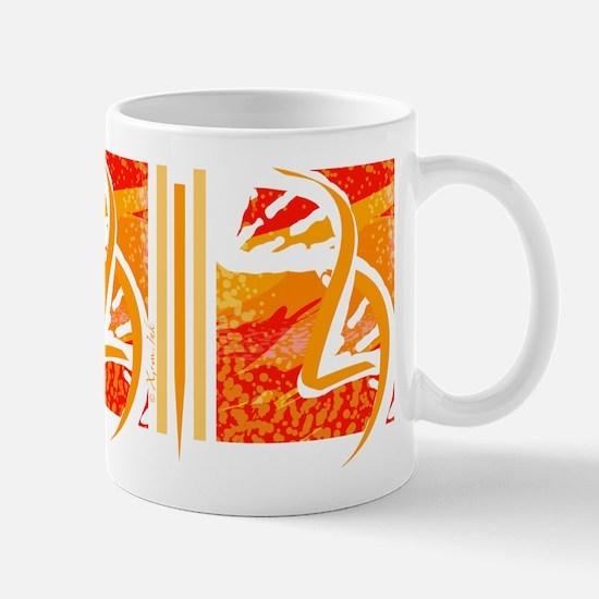 Batik-Style Double Helix Mug