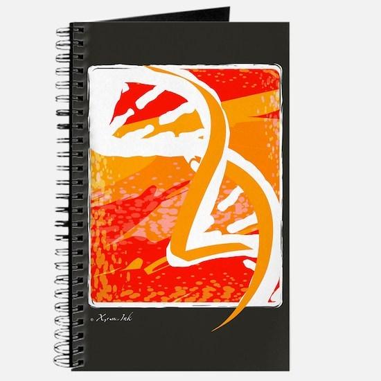 Batik-Style Double Helix Journal
