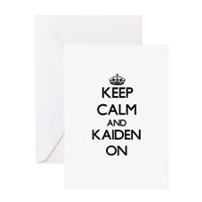 Keep Calm and Kaiden ON Greeting Cards