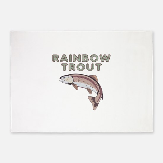 Large Rainbow Trout 5'x7'Area Rug