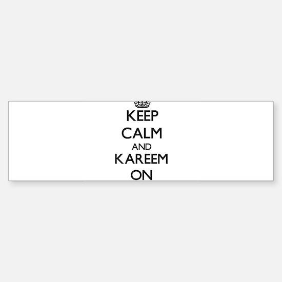 Keep Calm and Kareem ON Bumper Bumper Bumper Sticker