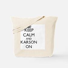 Keep Calm and Karson ON Tote Bag