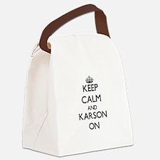 Keep Calm and Karson ON Canvas Lunch Bag