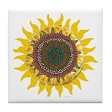 Multi-Colored Sunflower Tile Coaster