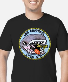 USS GRAYBACK Men's Fitted T-Shirt (dark)