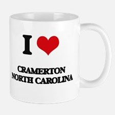 I love Cramerton North Carolina Mugs