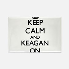 Keep Calm and Keagan ON Magnets