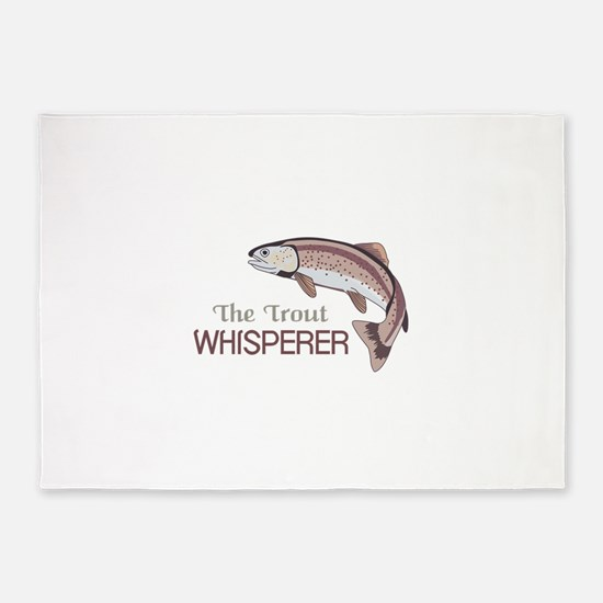 THE TROUT WHISPERER 5'x7'Area Rug