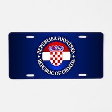 Croatia (rd) Aluminum License Plate
