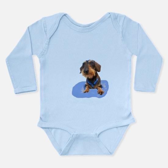 Wirehair Dachshund Long Sleeve Infant Bodysuit