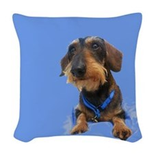 Wirehair Dachshund Woven Throw Pillow