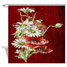 Poppies and daisies Shower Curtain