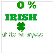 0% Irish Poster