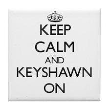 Keep Calm and Keyshawn ON Tile Coaster