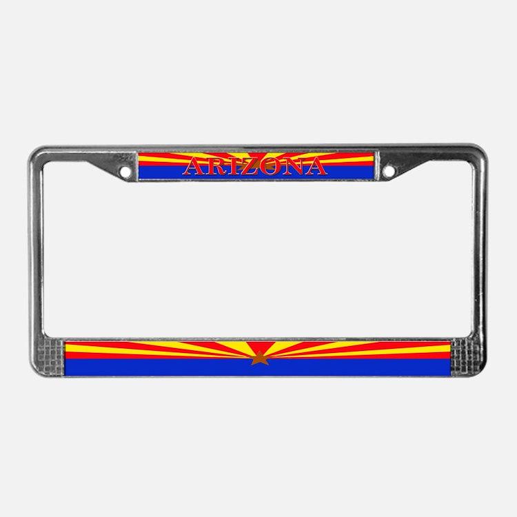 Arizona State Flag License Plate Frame